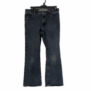 Gap Womens Blue Stretch Flare Denim Jeans Sz 6 A